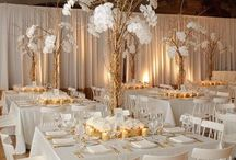 White and gold weddings
