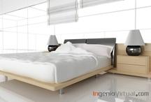 Infografías de Dormitorios y Estancias / Infografías para proyectos de dormitorios y estancias de uso público o privado.