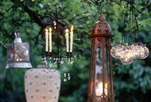 Lantern, candles
