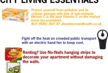 City Living Essentials / Moving Essentials / London / New York / Berlin / Renting / Detox / Health