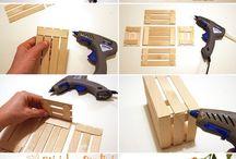 výroba drevennej bedničky zo špachtlí