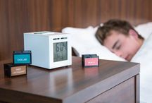 Alarm Clock / A project named SensorWake which consists of an old factory alarm clock designed to draw us out of bed with smells of coffee, fruits, mint, or even smell bacon dollars.