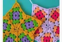 Crochet.Grannys square. / grannys y combinacion de colores