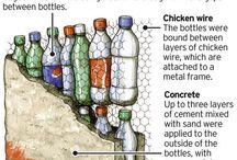 Trabajos botellas y malla