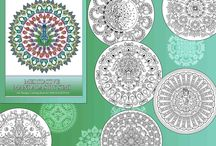 Meditative Mandalas by Simi / Mandalas, coloring pages, coloring books, art therapy, relaxation, meditation. Purchase book from: www.amazon.com/dp/1542355079  www.createspace.com/6837395   PDF:https://gum.co/meditativemandalasbysimi  Coloring pages: www.etsy.com/in-en/shop/SimiRaghavanArt