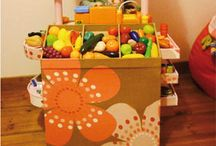 Kid play fruit stand diy