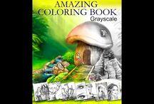 Grayscale Colouring Books