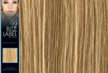 Blue Label / The widest range of weft hair extensions colours in Europe. Authentic Human hair by Hairaisers / by Mick Say