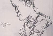 """Portraits and Sketches - designing/observation /  includes my personal art work, character designing & """"re-designing"""""""