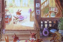 coelhos ilustrações