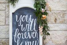 Wedding sayings & signage