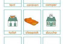we hebben een camping! / thema: we hebben een camping kamperen, tent, spel, onderzoek, leesschrijven, gesprek, constructie, rekenen/wiskunde