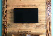 Painel para TV rústico
