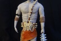 Handmade Clay Figures / Handmade clay figures of heroes inspired by comics, video games, fantasy etc.