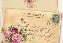 Post card, mail art