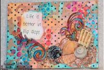Life is Better in Flip Flops - Artful Embellishing Aug 2013