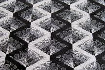 Black/white quilts