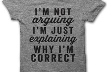 T-shirts Sayings