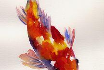 Greetings cards - Fish