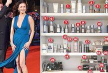 Inside the beauty cabinet