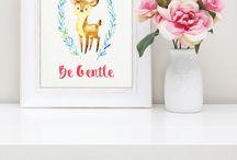 Nursery art free printables