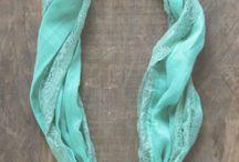 sjaals met leer