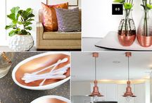Copper Interiors / Create a warm atmosphere this seasons in your home with key metallic pieces.