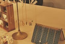 Vintage diy jewellery display