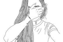 Tumblr girl drawing ❤