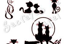 plantillas gatos
