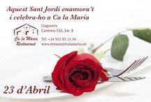 Sant Jordi 2016 / Menú especial Sant Jordi al #restaurant Ca la Maria #Girona #CostaBrava #Llagostera