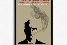 Mad Men Posters / Mad Men posters featuring famous quotes from Don Draper and Roger Sterling