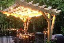 one sided pergola