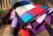 Decken: genäht, gestrickt, gehäkelt