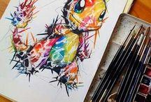 Painting / Referenser till bilder, vad man kan behöva tänka på när man ritar ansikten mm. Fina teckningar.