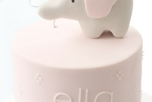 Little Elephant  / Baby shower ideas - pink and grey with a touch of white