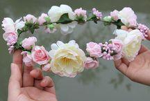 Coronas de flores para cabello