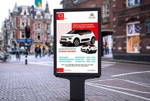 Promotional materials for Citroën van Beek, designed by A3 Studio​