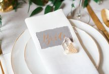Wedding Place Setting Ideas / Luxury Wedding Place Setting ideas and inspiration. Beautiful place names, escort cards and wedding favours