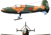 WW II USSR MILITARY AIRPLANES
