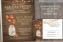 Fall Invitations Inspiration / A board to capture invites/stationary that have a fall theme.