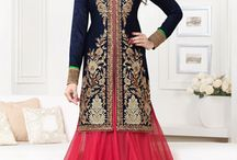 Bipasha Basu beautiful Anarkali designer suit / Design Embroidery Work with full Sleeves, with Pure Chiffon Dupatta Lightighting the elements of this Navy Blue Kameez with Pink Lehenga having a multi-colour of  borders.  For purchase contact us on : By website : http://highlifefashion.com/ For retail purchase What's Up : 9594002709 / 9930928622 / 9821925564 for bulk purchase email us on : info@highlifefashion.com