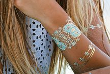 ***FLASH TATTOO*** / http://www.jewelry-tattoo.eu/ Gold Silver Metallic Flash Temporary Waterproof Tattoo Stickers inspired by Jewelry (bracelets, necklaces, rings, suspenders, Indian, African, Egyptian, geometric and other motifs),which lasts 3-5 days