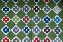 Churn Dash quilts
