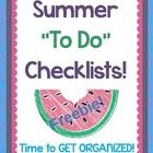 Summer Planning / To do's and projects to get ready for the new school year