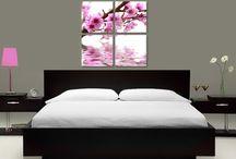 Tablouri moderne dormitor / Tablouri decorative pe diferite teme, culori si marimi pentru un dormitor de vis.