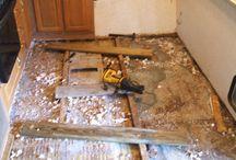 Reparere gulv i camp