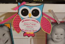Owl themed bday party- first birthday