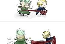 Zoro x Sanji (One-Piece)