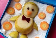 Lancheira da Beatriz - Food Art do Papai / Arte com os lanches - food art -  feita carinhosamente pelo papai para a lancheira de Beatriz.